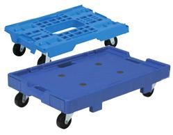 折りたたみコンテナは畳むことでサイズが約1/4になります