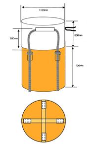 フレキシブルコンテナバッグA 1t(反転なし・UVあり) 100枚