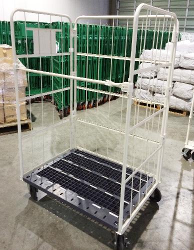 【倉庫引取】 中古カゴ台車 W1100×D800×H1700mm
