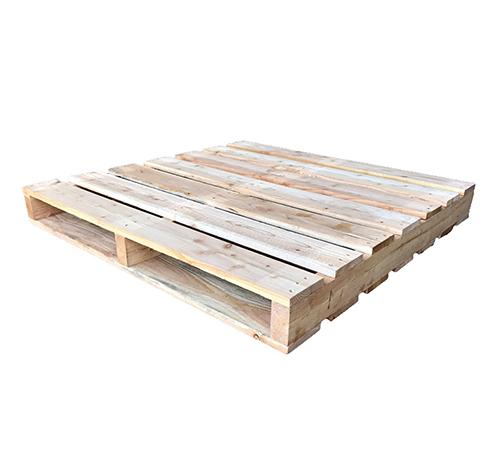 新品 保管用木製パレット 2方差し 1100×1100×130mm