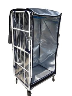 カゴ台車保冷カバー W850×D650×H1500(1700)mm用