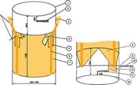 フレキシブルコンテナバッグB 1t(反転なし・UVあり)(100枚)