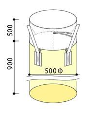 フレキシブルコンテナバッグA 小型300kg(反転なし・UVあり) 100枚