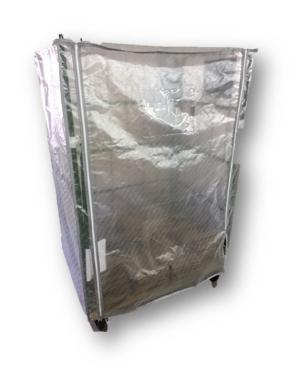 カゴ台車 クリア 防塵カバー  帯電防止・UVカット