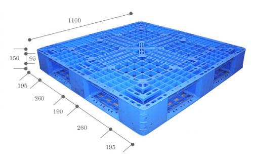 【完売御礼】中古 プラスチックパレット 1100×1100×高さ150mm