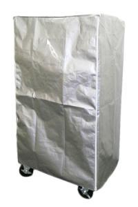 カゴ台車用防塵カバー(材質 UVクロス・シルバー)